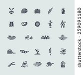 set of agriculture icons   Shutterstock .eps vector #259091180