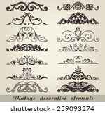 vintage decorative elements | Shutterstock .eps vector #259093274