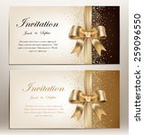 tow pretty wedding invitation... | Shutterstock .eps vector #259096550