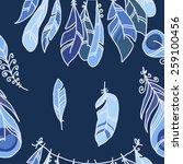 vector seamless pattern of... | Shutterstock .eps vector #259100456