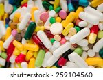 Medical Background With Pills...