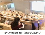 conference and presentation.... | Shutterstock . vector #259108340