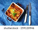 Italian Food. Hot Tasty Lasagna ...