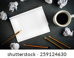 top view of creative writing... | Shutterstock . vector #259124630
