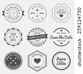 set of retro design elements... | Shutterstock .eps vector #259124750