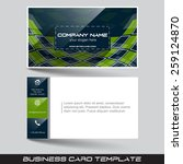 business card template with... | Shutterstock .eps vector #259124870