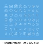 set of line icons.vector