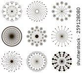 set of abstract dandelions | Shutterstock .eps vector #259128080