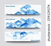 set of banner templates with...   Shutterstock .eps vector #259129274