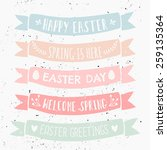 a set of typographic designs on ... | Shutterstock .eps vector #259135364