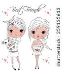 fashion girl | Shutterstock .eps vector #259135613
