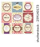 retro  vintage labels set | Shutterstock .eps vector #259140173
