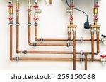 Copper Pipes In Boiler Room