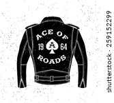 monochrome vintage biker label  ... | Shutterstock .eps vector #259152299