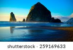 Cannon Beach Sunset.  Oregon...
