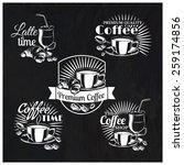 vector set of coffee shop logos ... | Shutterstock .eps vector #259174856
