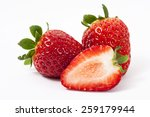 strawberry on white background | Shutterstock . vector #259179944