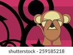 cute monkey cartoon background...   Shutterstock .eps vector #259185218