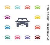 car flat icons set. open... | Shutterstock . vector #259187813