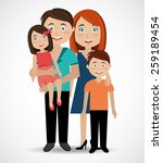 family design over white... | Shutterstock .eps vector #259189454