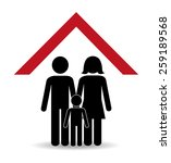 family design over white... | Shutterstock .eps vector #259189568