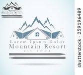 mountain resort vector logo...   Shutterstock .eps vector #259196489