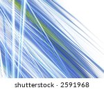 abstract blue waves illusion page design - stock photo