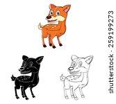 coloring book baby deer cartoon ... | Shutterstock .eps vector #259199273