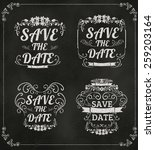 set of vector save the date