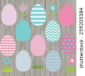 easter eggs | Shutterstock .eps vector #259205384