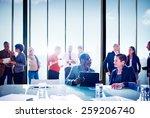 multiethnic group of people... | Shutterstock . vector #259206740