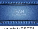 jean background and texture | Shutterstock . vector #259207259