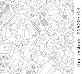vector seamless pattern with... | Shutterstock .eps vector #259207754