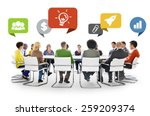 diversity people discussion... | Shutterstock . vector #259209374