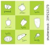 set of food ingredients  ... | Shutterstock .eps vector #259212173