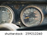 Old Car Dashboard.