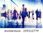 silhouettes of business people... | Shutterstock . vector #259212779