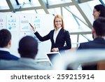 financial director announcing... | Shutterstock . vector #259215914