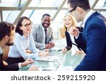 business people laughing... | Shutterstock . vector #259215920