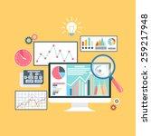stock exchange rates on...   Shutterstock . vector #259217948