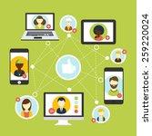 social media avatar network... | Shutterstock . vector #259220024