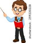 cartoon male teacher  | Shutterstock .eps vector #259220228