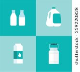 vector milk icon package types
