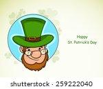 happy st. patrick's day... | Shutterstock .eps vector #259222040