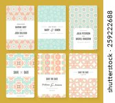 set of perfect vector card... | Shutterstock .eps vector #259222688