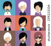 set of people icons in flat... | Shutterstock .eps vector #259223204