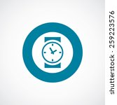 time icon bold blue circle... | Shutterstock .eps vector #259223576