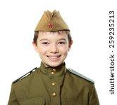 portrait of young boy in soviet ... | Shutterstock . vector #259235213