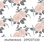 seamless pattern with beautiful ... | Shutterstock .eps vector #259237133