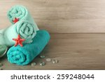 Beautiful Towels With Sea Star...